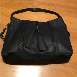 Shoulder bag double strap, zippered too